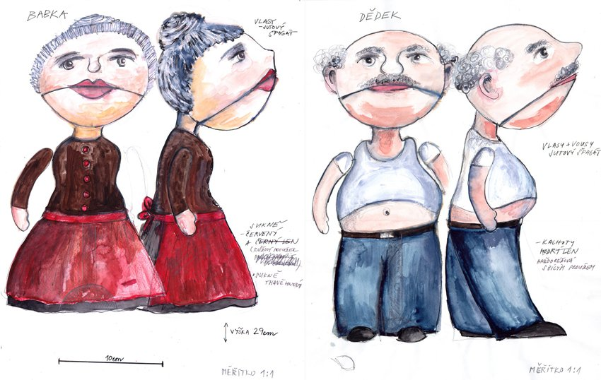 skica loutkek/sketch of puppets